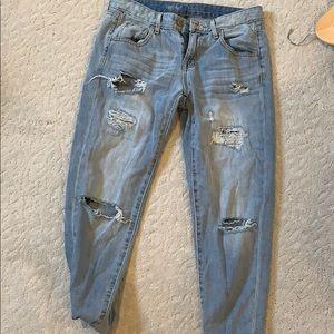 Mossimo Boyfriend Crop Jeans NWOT
